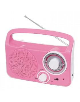 RADIO STEREO PORTATILE AM FM A 2 BANDE ROSA TREVI RA 762 INGRESSO PER CUFFIE NEW