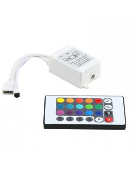 Telecomando 24Tasti + Controller RGB 6A 12V 72 W per Strisce LED RGB 5050 3528