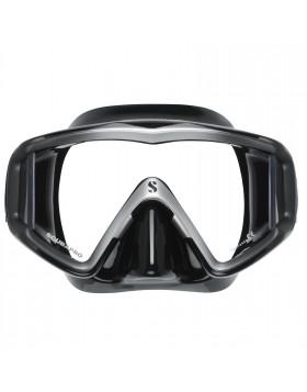 Maschera Facciale Subacquea Sub Silicone Nera Silver SCUBAPRO CRYSTAL VU Nuoto
