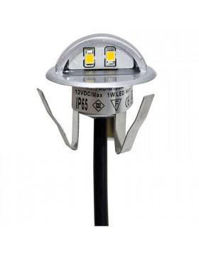 Punto Luce segna passi interni esterni luce bianca calda 3000k IP65 25 Lm Life