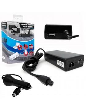 ALIMENTATORE UNIVERSALE NOTEBOOK USB AUTO CASA ACER ASUS HP TOSHIBA 120W VULTECH