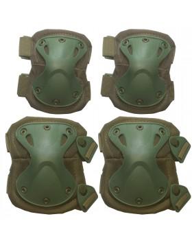 Set Ginocchiere Gomitiere di Protezione Protezioni per Softair Verdi Exagon