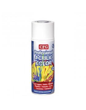 Smalto Acrilico Bianco Lucido Legno Plastica Ceramica Carta Cemento 400 ml Spray