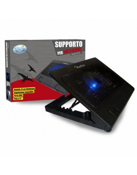 SUPPORTO PER NOTEBOOK VENTOLA VULTECH COMPUTER PC PORTATILE USB RAFFREDDAMENTO