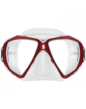 Maschera Facciale Sub Subacquea in Silicone Trasparente Rossa SCUBAPRO SPECTRA