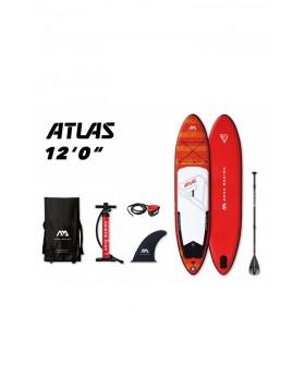 Sup Board Tavola Sport Acquatici Gonfiabile Rigida Rossa Atlas 366 cm Aquamarina