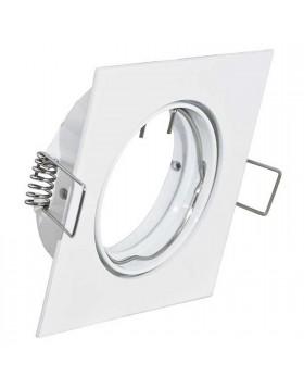 Supporto quadrato lampade MR16 PAR16 Potenza massima 50W Alluminio 39.PS6126WH
