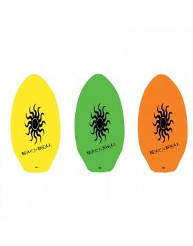 Tavola da Surf in Legno Board 90 x 50 cm per Spiaggia Mare Sport Vari Colori