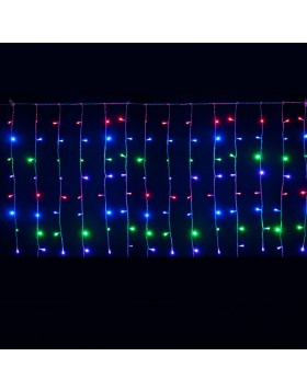 Tenda Luminosa 2 Metri 180 Led Luci Addobbi di Natale Luce Multicolor