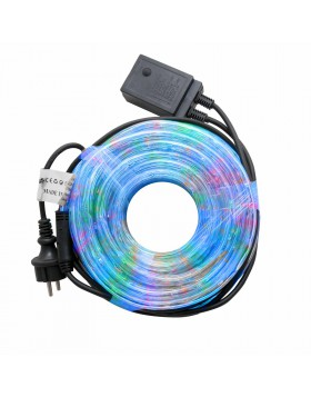 Tubo a Led Luminoso 10 Metri per Esterno Luci Natale Natalizie Luce Multicolor Rgb