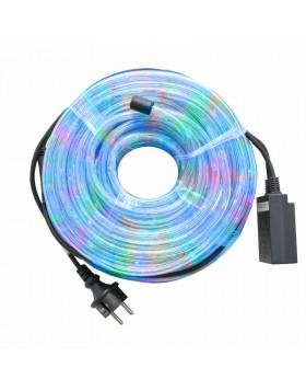 Tubo Luminoso per Esterno Led 20 Metri Luci Natalizie Addobbi Natale Multicolor