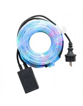 Tubo Luminoso Addobbi per Natale 6 Metri Luce Multicolore 8 Giochi Luce