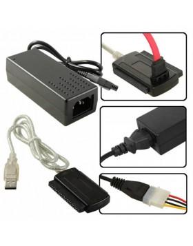 """CAVO ADATTATORE CONVERTITORE DA IDE SATA A USB PER HDD HARD DISK DA 2.5"""" 3.5"""""""