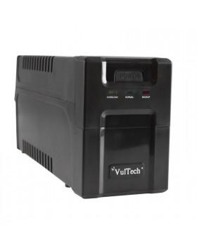 Gruppo di continuità UPS 1000 VA 530 Watt W VULTECH 2 Prese Uscite per Computer