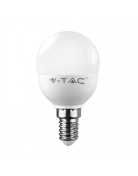 Lampada Lampadina Attacco E14 LED V-TAC Miniglobo Luce Bianca Naturale 6 Watt
