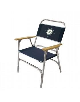 Sedia con tessuto blu Rosa venti Nautico Per camping Mare In alluminio Spiaggia