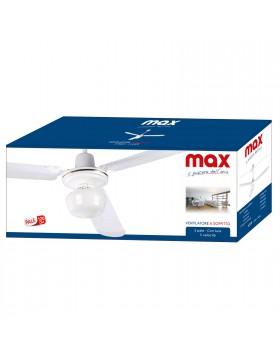 Ventilatore da Soffitto Parete 3 Pale Luce Lampada Diametro 120 cm MAX CASA