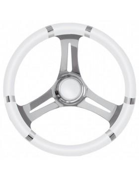 Timone Volante in Acciaio Poliuretano Bianco Diametro 350 mm per Barca