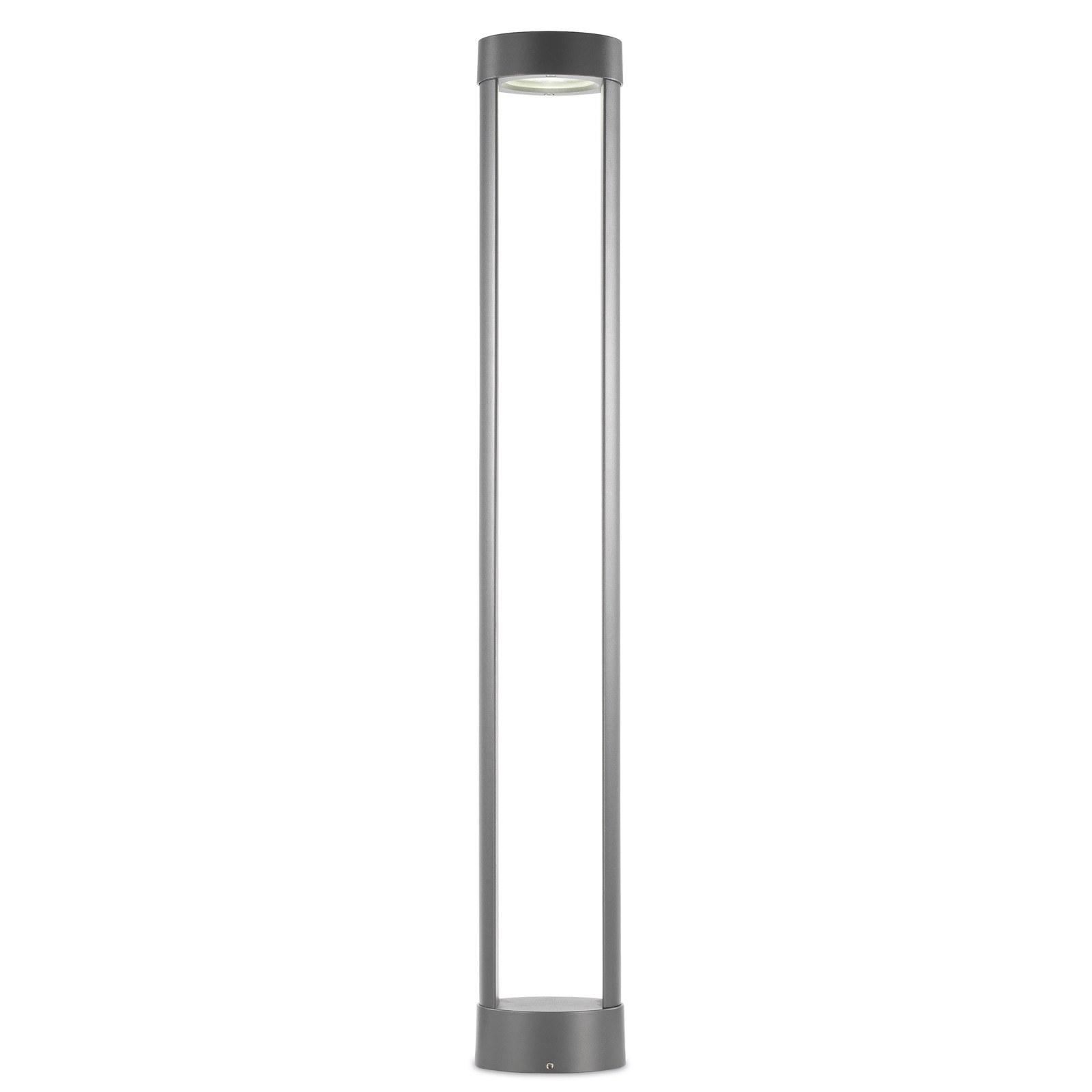 Lampione palo esterno da giardino in alluminio for Lampade led esterno